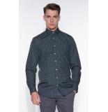 Blue Industry Casual overhemd met lange mouwen antraciet