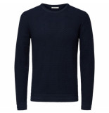 Selected Homme oliver crew blauw