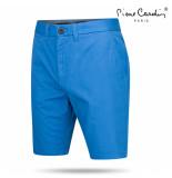 Pierre Cardin Heren chino short kobalt blauw