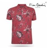 Pierre Cardin Heren polo bloemen rood