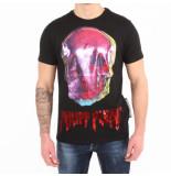 Philipp Plein Skull platinu round eck t-shirt zwart