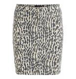 Object Objwin new denim skirt aop seasonal 23030109 humus beige