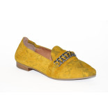 Via Vai Via vai artikelnummer 5215068 loafer geel met snakeprint