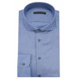 Drykorn Slim fit overhemd met lange mouwen blauw