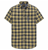 PME Legend Pme legend yellow short sleeve shirt melange check