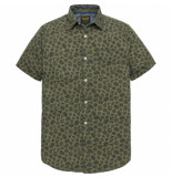 PME Legend Pme legend oliver short sleeve shirt poplin print groen
