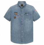 PME Legend Pme legend denim short sleeve shirt denim aiden blauw