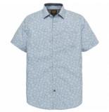 PME Legend Pme legend blue short sleeve shirt poplin print blauw
