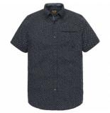 PME Legend Pme legend blue short sleeve shirt linen print grijs