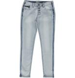 Geisha – jeans 7/8 + buttons blauw
