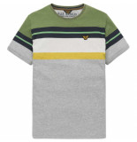 PME Legend – short sleeve r-neck printed stripe grijs