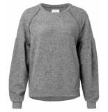 YAYA – jersey hairy sweater w. bold s grijs