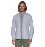 Victim Casual overhemd met lange mouwen grijs
