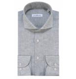 Dutch Dandies Slim fit overhemd met lange mouwen grijs