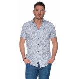 Vanguard Casual overhemd met korte mouwen blauw