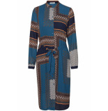 Pieces Pcbonita ls shirt dress dmo pb 17098680 navy blazer/ in multi c