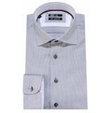 Recall Shaped fit overhemd met lange mouwen grijs