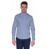 Victim Casual overhemd met lange mouwen blauw