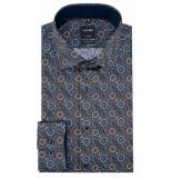 Olymp Luxor modern fit overhemd met lange mouwen grijs