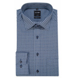 Olymp Luxor modern fit overhemd met lange mouwen blauw
