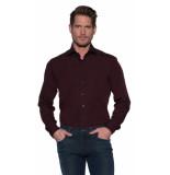 Donkervoort Casual overhemd met lange mouwen bordeaux