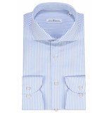 Dutch Dandies Slim fit overhemd met lange mouwen licht blauw