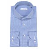 Dutch Dandies Slim fit overhemd met lange mouwen blauw