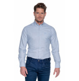 Donkervoort Overhemd met lange mouwen blauw