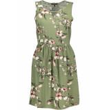 Vero Moda Vmsimply easy sl short dress 10211484 oil green/laura oi groen