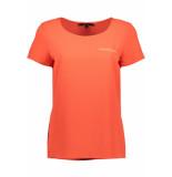 Vero Moda Vmsasha ss top w. pocket a color 10195725 fiery coral bordeaux