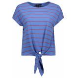 Vero Moda Vmshannon ss wide knot top jrs 10215979 granada sky/fiery red blauw