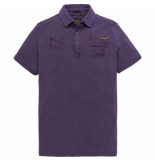 PME Legend Short sleeve polo rugged pique gothic grape paars