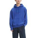 Levi's Relaxt graphic hoodie kobalt blue blauw