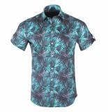 Ferlucci Heren korte mouw overhemd tropic stretch torino zwart