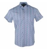 Ferlucci Heren korte mouw overhemd trendy design stretch torino wit