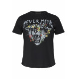 Only Carmakoma Carnever mind ss tee 15174955 black zwart