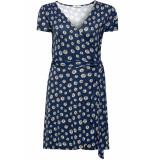 EDC Jersey jurk met wikkellook 059cc1e012 c400 navy blauw