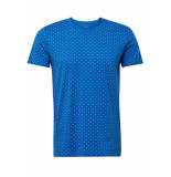 Tom Tailor T shirt met all over print 1011138xx12 17830 blauw