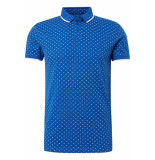 Tom Tailor Polo met all over print 1010866xx12 17830 blauw