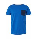 Tom Tailor T shirt met borstzak 1010862xx12 17551 blauw