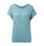 Tom Tailor T shirt met elastisch zoom 1010916xx71 13178 groen
