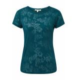 Tom Tailor T shirt met motief 1010912xx71 20038 groen
