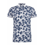 Tom Tailor Polo met print 1014317xx12 18640 wit