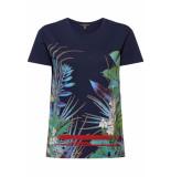 Esprit Collection Shirt met print 059eo1k008 e400 blauw