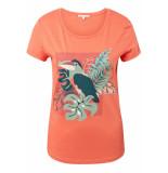 Tom Tailor T shirt met print 1010899xx71 11650 oranje