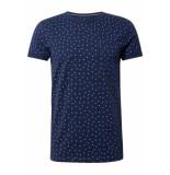 Tom Tailor T shirt met motief 1012474xx12 18629 blauw