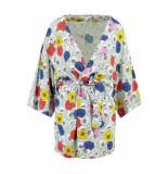 Garcia Jeans Kimono met bloemenprint e90095 2715 perfect mint groen