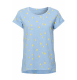 EDC Slub jersey shirt 059cc1k017 c440 blauw
