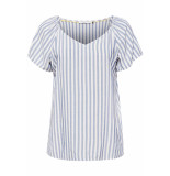 EDC Gestreepte blouse 059cc1f002 c400 blauw