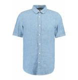 Garcia Jeans Linnen overhemd e91031 1050 indigo blauw